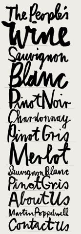 lettering: People S Wine, Handwritten, Typography, Design, Hand Lettering