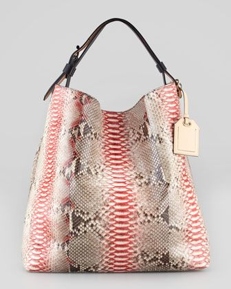 Love this ... RDK Painted Python Hobo Bag, Multicolor by Reed Krakoff at Neiman Marcus.