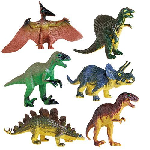 LEORX 6pcs Dinosaurs Toys Educational Toy for Kids