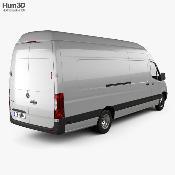 3d Model Of Mercedes Benz Sprinter Passenger Van L3h2 2019 With