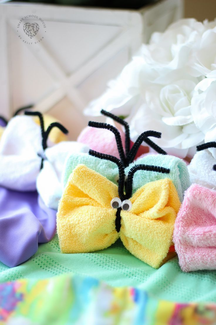 Washcloth Butterflies All You Crafternoon Ideas Crafts Fun