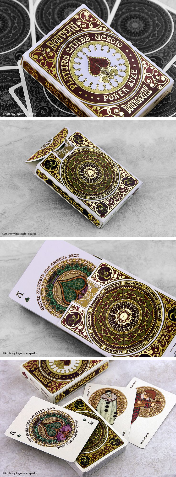 Nice Shots of our Nouveau BOURGOGNE Playing Cards by @sparkzphoto - playing cards art, game, playing cards collection, playing cards project, cards collectors, design, illustration, card game, game, cards, cardist, cardistry