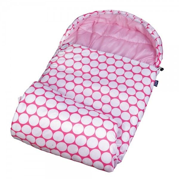 Big Dot Pink White Stay Warm Sleeping Bag