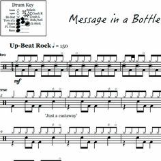 Roxanne - The Police - Drum Part #drumsheetmusic #thepolice #messageinabottle