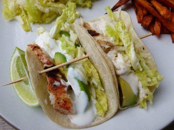 Grilled fish tacos recipe grilled fish tacos for Greek yogurt fish taco sauce