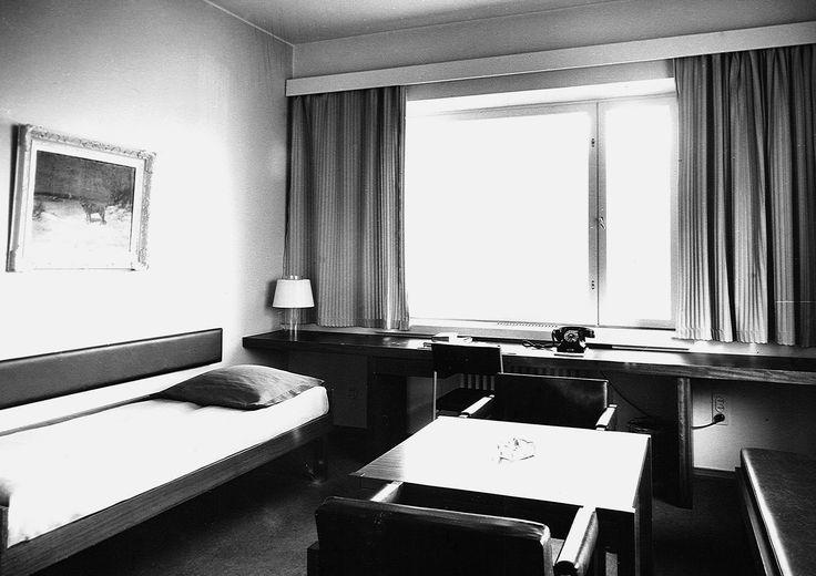 Hotelli Arinan hotellihuone 1960-70-luvulta. Kuva: Osuuskauppa Arinan arkisto