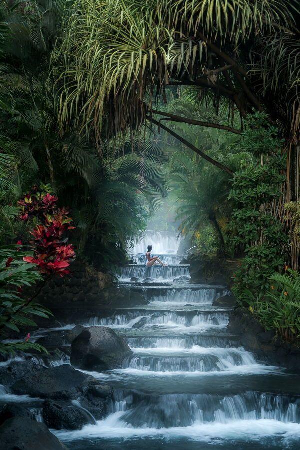 Wasserfälle in Costa Rica jagen