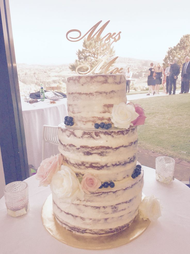 A nude cake made for a beautiful wedding up in the hills of northern NSW.