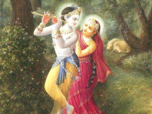 Radha's love towards Krishna in Vrindavan