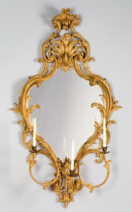 A GEORGE III CARVED GILTWOOD GIRANDOLE cieca 1765- Mallett Antiques