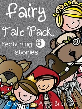 Fairy Tales: a Fairy Tales PackThis pack is PERFECT to supplement your learning about Fairy Tales!Six different fairy tale companions are included:Jack and the BeanstalkCinderellaGoldilocks and the Three BearsThe Frog PrinceThe Three Little PigsLittle Red Riding HoodThis pack includes:-student cover pages for each fairy tale-a story map for each fairy tale-3 different 'Let's Compare' pages for each fairy tale, for making text-to-self connections-'Character Traits' pages for each character in…
