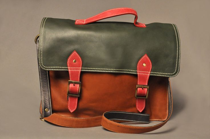Briefcase, handmade true leather!