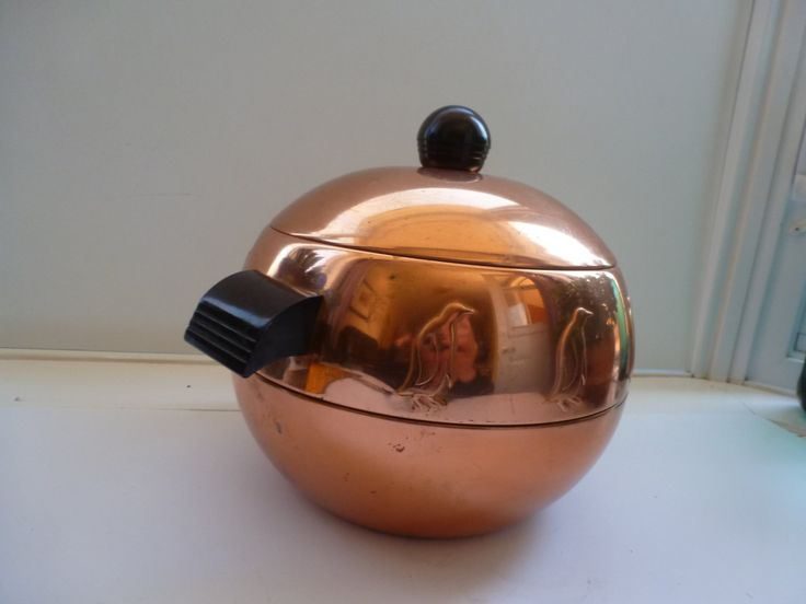 Penguin Ice Bucket West Bend Hot And Cold Server 1950s Copper Colored Penguin Brand Ice Bucket Vintage Ice Bucket by CurranStudios on Etsy