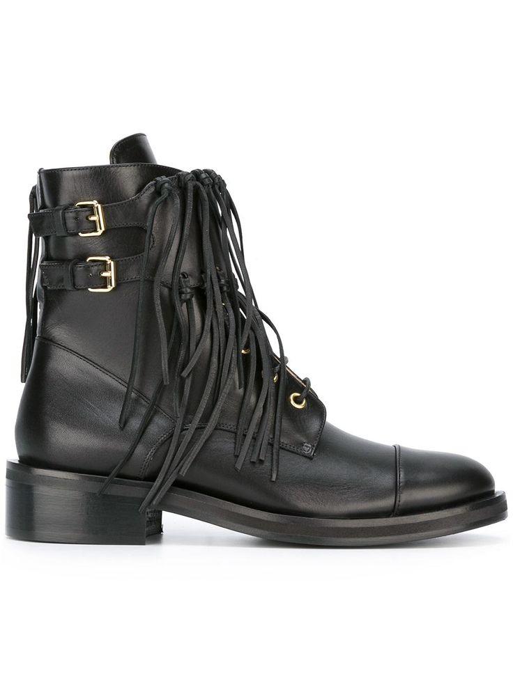 Elie Saab ботинки с бахромой