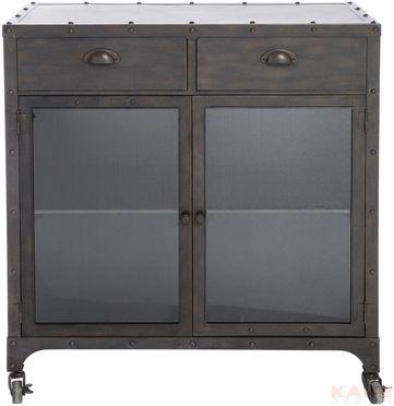 Factory Dresser Metal, 2 Drawer