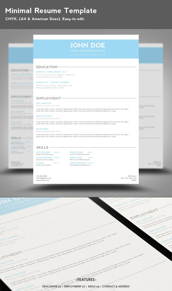 1000  images about resume template on pinterest