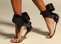 Bow Sandal | Aminah Abdul Jillil ... OH! How I wish that I'd seen these beauties at the start of the summer.