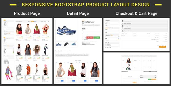 Plist Bootstrap Product Layout Pack Stylelib In 2021 Css Templates Html Css Layout Design