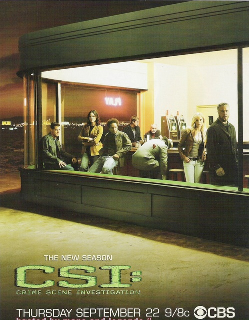 "My favorite Streiber-made TV promo art was for season six of ""CSI: Las Vegas,"" which was inspired by Edward Hopper's ""Nighthawks"" painting."