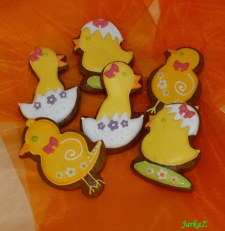 Easter gingerbread - chicks veľkonočné medovníčky - kuriatka