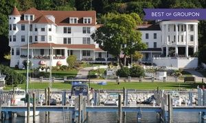 Groupon - Stay with $ 40 Dining Credit at Island House Hotel in Mackinac Island, MI. Dates into October. in Mackinac Island, MI. Groupon deal price: $164.50