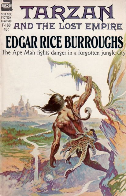 FRANK FRAZETTA - art for Tarzan and the Lost Empire by Edgar Rice Burroughs - 1962 Ace Books