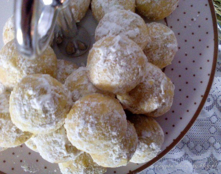 Śnieżne kule - ciasteczka orzechowe z pomarańczą PRZEPIS