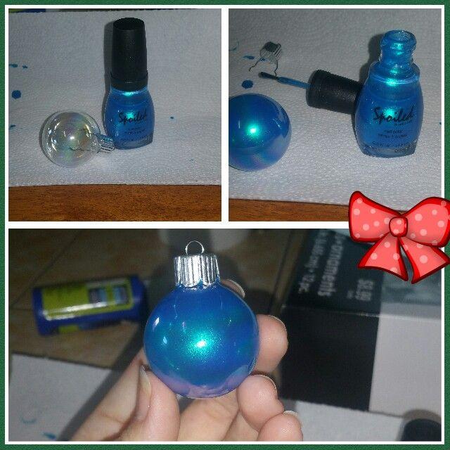 Diy painted christmas ornaments using nail polish crafts for Crafts using nail polish
