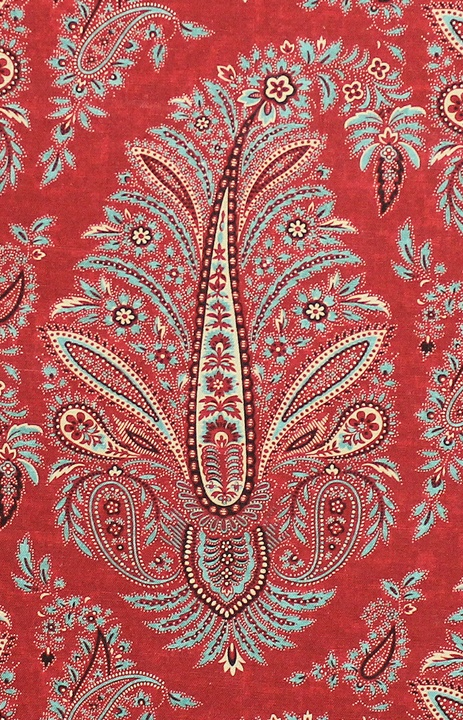 Wynyard red paisley Kathryn M. Ireland for Scalamandre