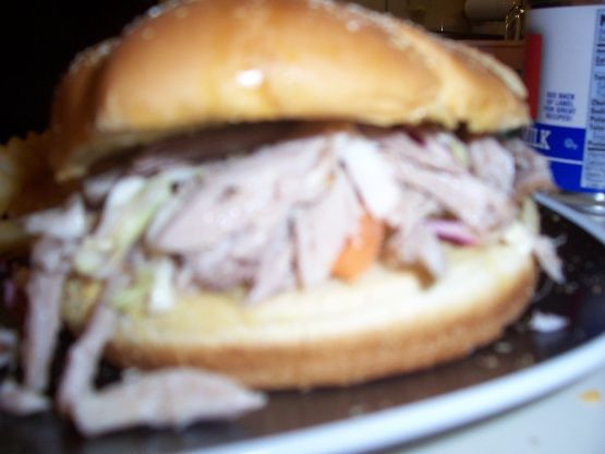 Make and share this North Carolina-Style Pulled Pork Sandwiches and Coleslaw recipe from Food.com.