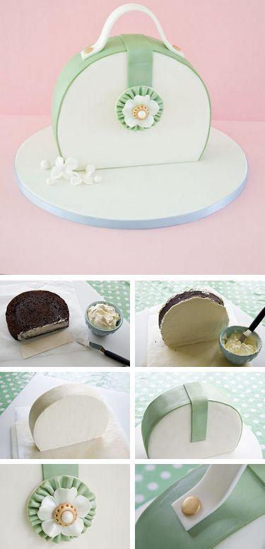 How to make a Purse Cake #purse #cake #tutorial http://thecakebar.tumblr.com/post/66714076427/how-to-make-a-purse-cake-click-link-for-full  Diese und weitere Taschen auf www.designertaschen-shops.de entdecken