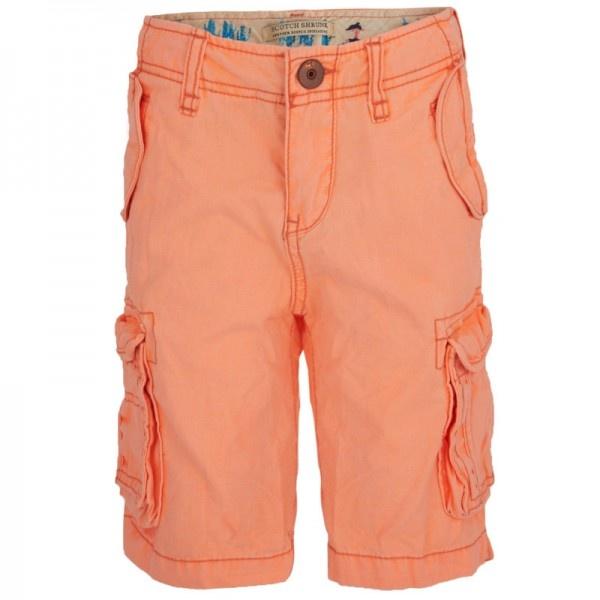 Scotch Shrunk Neon Orange Cargo Shorts at alexandalexa.com