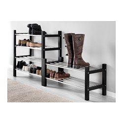 TJUSIG Kenkähylly, musta - 79 cm - IKEA