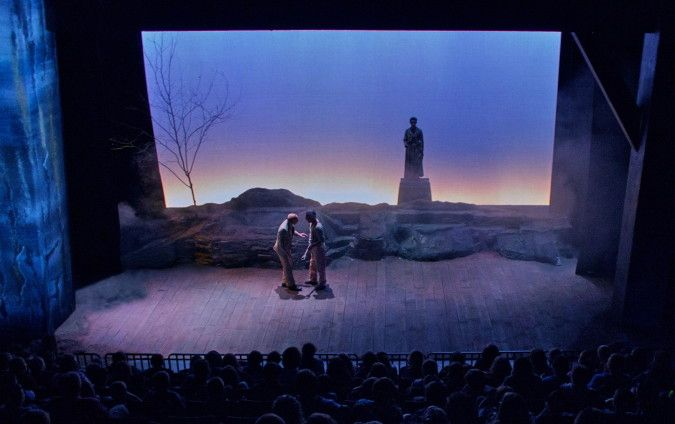 Sleep in Safety. Jenny WIley Theatre. Scenic design by Jung Griffin.