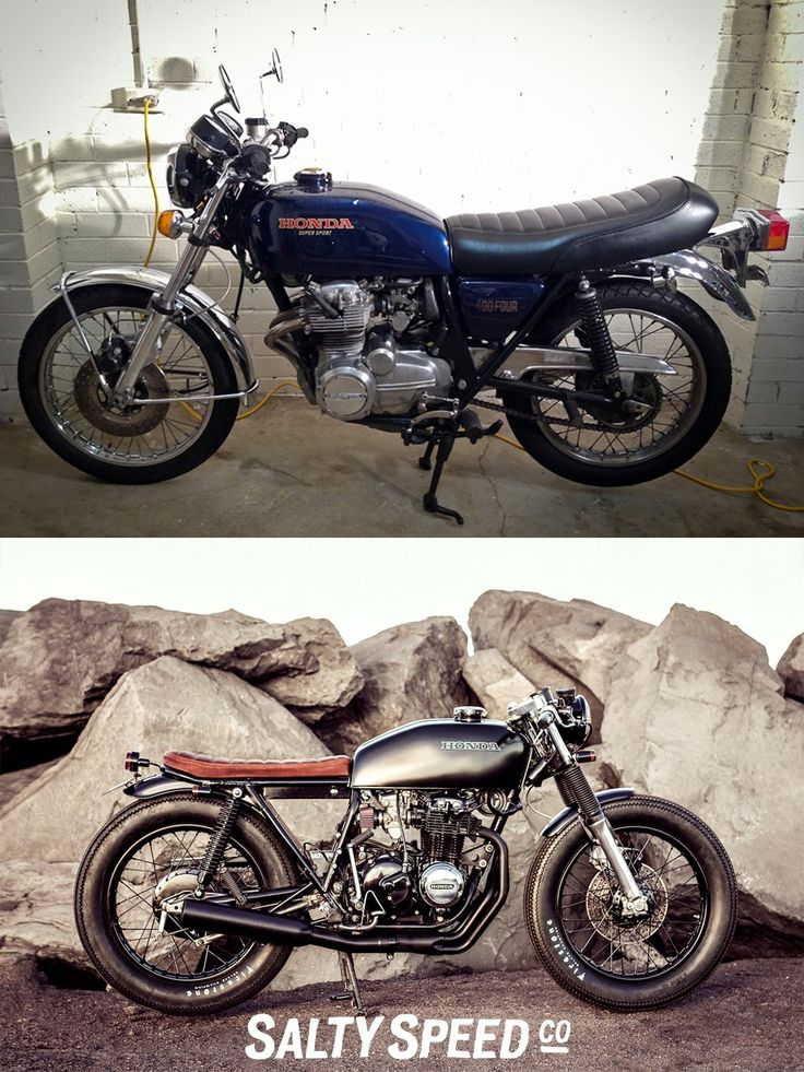 Honda Vintage bike new build before and after