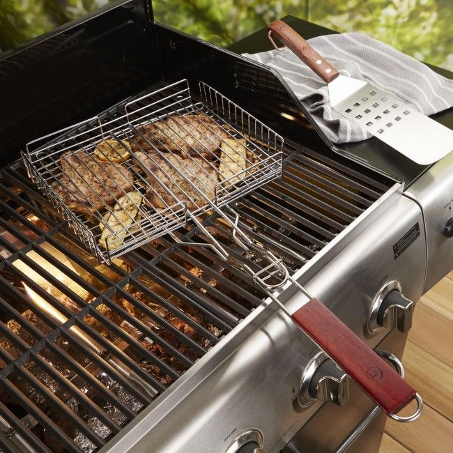 Grill everything that might slip through your BBQ grate in a Outset BBQ Square Gill Basket.