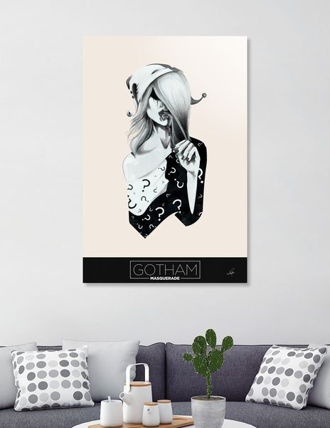 Discover «Gotham Masquerade II», Numbered Edition Acrylic Glass Print by Cristina Stefan - From $75 - Curioos