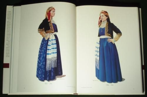 BOOK-Greek-Folk-Costume-of-Thessaly-Karagouna-ethnic-dress-Balkan-fashion-Greece