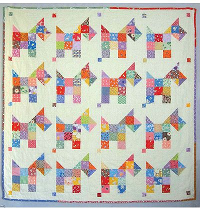 Scotties Vintage Quilt Pattern