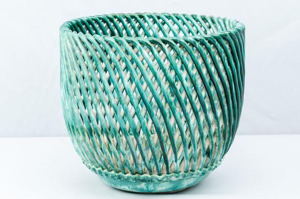 Art Deco Ceramic Flower Pot From Gmundner Keramik 1930s