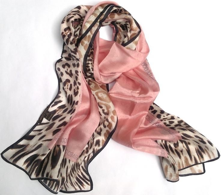 ☆ Cavalli silk scarf - leo/pink ☆