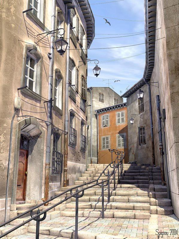 Quartier du Panier, près du vieux port, Marseille
