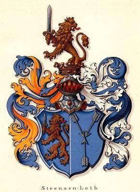 Leth-Steensen family crest