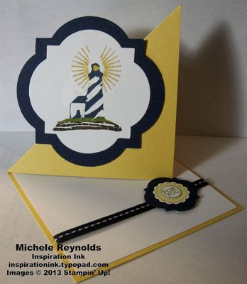 Undefined Lighthouse Twisted Easel Card by Michelerey - Cards and Paper Crafts at Splitcoaststampers