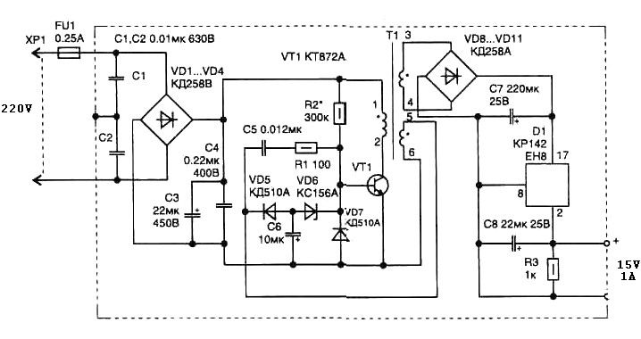 simple switching power supply circuit