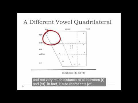 Phonology and Phonetic Transcription Part 16 Vowel Charts