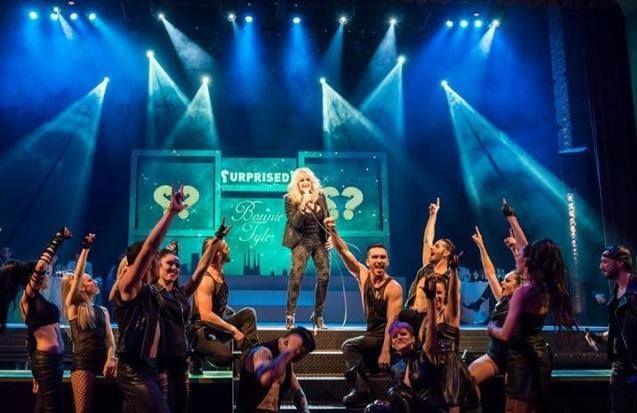 #BonnieTyler #stage #performing #SurprisedTheShow #TeatrePrincipal #Ramblas, #Barcelona #live #rock #music