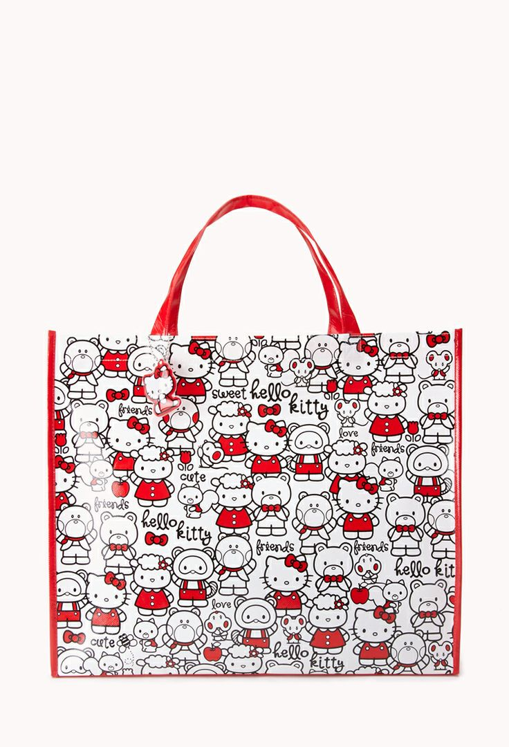 Sweet Friends Hello Kitty Shopper Tote | FOREVER21 For the #HelloKitty obsessed #ToteBag #Accessories