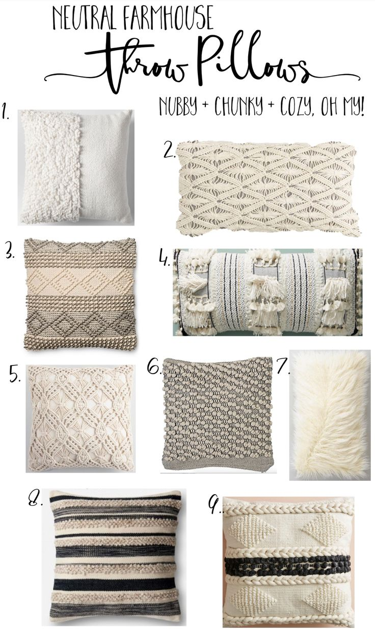 Cozy, Nubby, Chunky Farmhouse Pillows in All Budgets