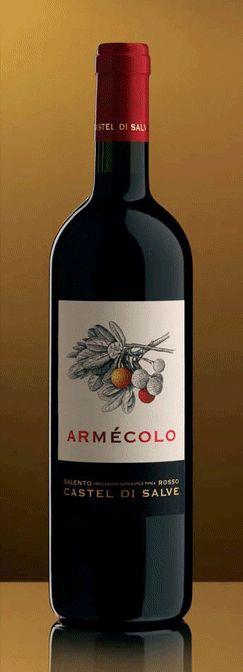"""Vino Rosso: rosso Salento IGT """"Armecolo"""", Negramaro 80%-Malvasia nera di Lecce 20%"""